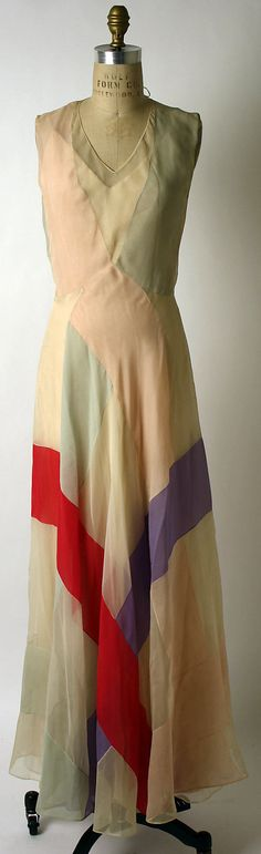 Dress, Evening  House of Ricci  (French, founded 1932)  Designer: Nina Ricci (French, 1883–1970) Date: spring/summer 1937 Culture: French Medium: silk