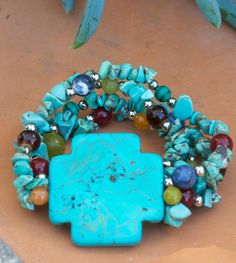 Chip Turquoise Bracelet $9.99