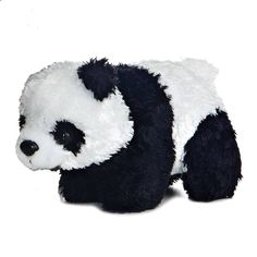 "5"" Aurora Plush Panda Bear Mini Flopsie Black & White Stuffed Animal Toy NEW #Aurora"