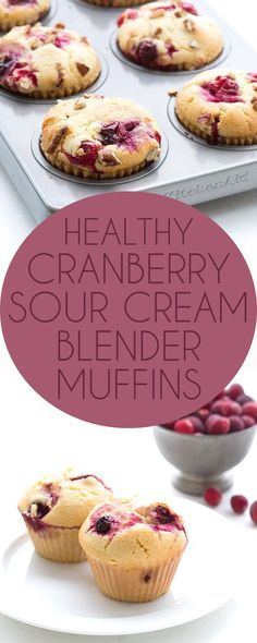 Best low carb Cranberry Sour Cream Blender Muffins. LCHF Keto Banting THM recipe.