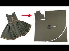 Girls Frock Design, Baby Dress Design, Baby Frocks Designs, Kids Frocks Design, Kids Dress Patterns, Baby Clothes Patterns, Frocks For Girls, Little Girl Dresses, Baby Frock Pattern