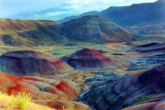 """In celebration of """"Find a Rainbow"""" Day today (April we present the Painted Hills of Oregon where a rainbow of colors occurs in the natural landscape! What travel locations have you discovered where """"Rainbows"""" can be found? Beautiful Places In America, Beautiful Places To Travel, Oh The Places You'll Go, Beautiful World, Painted Hills, Cascade Mountains, Color Psychology, Stunning Photography, Source Of Inspiration"""