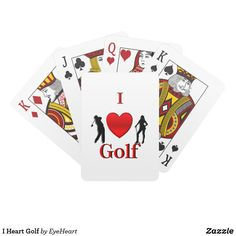 Sold 2 I Heart Golf Playing Cards. 50% off you will find this design on hundreds of products up to 60% off. There are dozens of unique I heart designs for whatever you like in my store http://www.zazzle.com/eyeheart - if you want a design for something you heart let me know through the contact designer link on this product page. I hope your holidays are going smoothly and am trying to get gift ideas out for everyone.