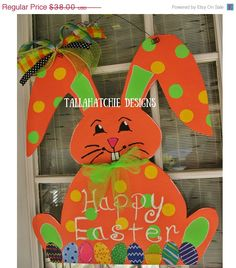 40% Off Easter Sale.....Easter Bunny Door Hanger Bunny Door Hanger by TallahatchieDesigns