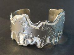 Sterling Horse Cuff