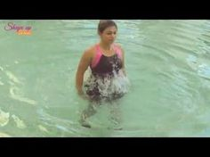 Plyometrics in the pool - aqua aerobics workouts to get more done in less time - YouTube