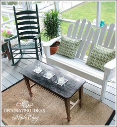 Porch Decorating Ideas on a Budget! Thanks to Jennifer from Decorating-Ideas-Made-Easy.com