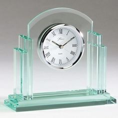 """I have just bought """"Jade Glass Clock with Columns and Curved Design"""" on Gifts for Professionals"""