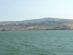 A view of Tiberias from the Sea of Galilee