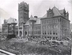 Building old Central High School, 1890s   News Tribune Attic