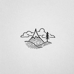 Cool easy drawings to draw pin by mya li zuckerman on doodles Cool Easy Drawings, Mini Drawings, Doodle Drawings, Doodle Art, Simple Tumblr Drawings, Citation Photo Instagram, Mountain Tattoo, Simple Doodles, Pen Art