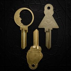 An absolutely genius idea and the perfect housewarming gift. This blank key can be cut by your local locksmith; it's compatible with kwikset (KW1) locks. Materials: brass Age: contemporary. Made by our friends at The Good Worth in California. Size: just over 2.5