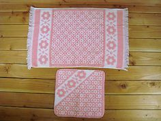 Vintage Cannon Monticello Pink White Floral Flower Hand Towel Wash Cloth EC | eBay