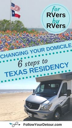 Many full-time RVers choose to change their domicile for several reasons, including the opportunity for no state income taxes, and receiving mail services. Escapee's RV Club makes this a simple process and we share how we became #Texas residents in 6 steps (blog post AND video). FYD is a helpful resource for RV life, living and working on the road, and travel + life inspiration. Check out their #blog for all things RVing, camping, and traveling! #GoRVing #RVing #RVlife #rvfulltime #vanlife
