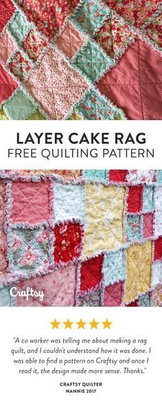 Turn that Layer Cake into a beautiful quilt. Easy to make and it finishes quickly. Use flannel or minkie for your backing for a change. Free Beginner Quilt Pattern.