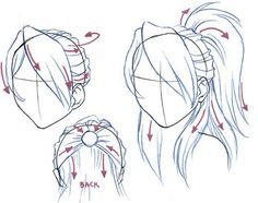 Cool tutorials on how to draw hair and such, although you might know all this stuff :)