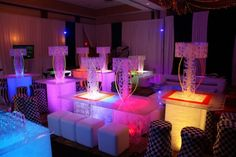 Neon Party Decorations | ... My Glow Party provided the decor and lighting for this neon glow party