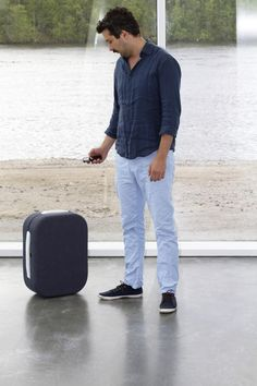 Hop is a suitcase which follows its owner obediently by detecting signals from the owner's mobile phone http://www.jamesdysonaward.org/Projects/Project.aspx?ID=2555=16=0