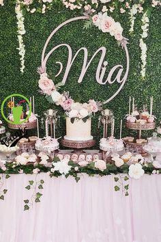 68 ideas baby shower girl cake pink dessert tables for 2019 68 Ideen Babyparty Mädchen Kuchen Rosa Desserts, Pink Desserts, Baby Shower Backdrop, Girl Baby Shower Decorations, Baby Decor, Pink Backdrop, Backdrop Ideas, Gold Bridal Showers, Gold Baby Showers