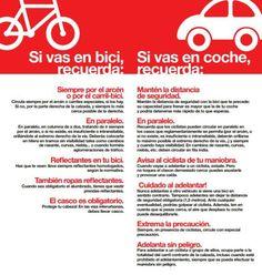 Consejos para ir en bicicleta y en coche