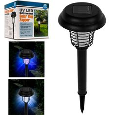 Trademark Commerce 82-6018 Solar Bug Zapper LED and UV by Happy CamperT