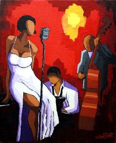 Trio chanteuse robe blanche