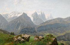 Фердинанд Лехнер (1855-1911) - Альпы.