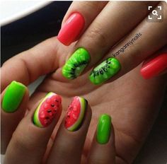 Watermelon is nice and attractive kiwi also