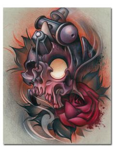 """Skull Machine"" Print by Timmy B for Steadfast Brand"