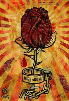 Expostion à Epinal : Images d'Obey Shepard Fairey, Rose Shakle, 2006, crédit : Obey Giant Studio