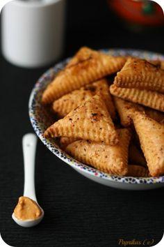Biscuits feuilletés à la moutarde