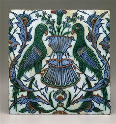 Earthenware, Ceramics and Tiles at the Smithsonian Museum « Islamic Arts and Architecture Turkish Art, Turkish Tiles, Islamic Tiles, Islamic Art, Perse Antique, Art Et Architecture, Ancient Persian, Art Asiatique, Antique Tiles