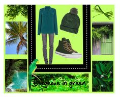 """Gorgeous in green"" by hazel8180 ❤ liked on Polyvore featuring Børn, Proenza Schouler, Oasis, Topshop, Converse, garden, GREEN and beach"