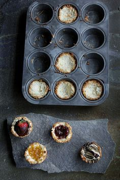 Coconut Macaroon Cups with assorted fillings