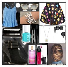 """""""look walk"""" by leticiaribeiromofokeng ❤ liked on Polyvore featuring Qupid, Taylor Morris, Nixon, Daisy Jewellery, Laura Geller, Lord & Berry, Essie and shu uemura"""