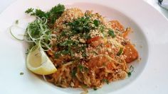 Curry Pad Thai with Tiger Shrimp
