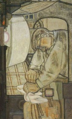 Printer Cleaning Press , 1953 by Prunella Clough (British National Galleries of Scotland Oil on canvas, x cm Collection: National Galleries of Scotland Gallery Of Modern Art, Art Gallery, National Gallery, Modern Artists, Art Uk, Your Paintings, Fantasy Creatures, Figurative Art, Art Forms