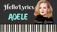 Adele – Hello (Easy Piano Lyrics) // Synthesia Lesson Music