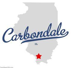 Map of Carbondale Illinois IL