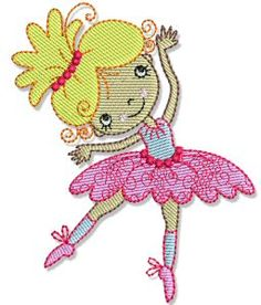 Bunnycup Embroidery | Free Machine Embroidery Designs | Ballet Cuties SET or individual designs