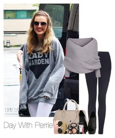 """""""Day With Perrie"""" by alyciastylesmalikforever ❤ liked on Polyvore featuring Topshop, John Lewis, Laura Geller and Ray-Ban"""
