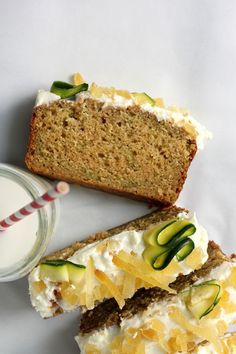 Brown Butter Zucchini Bread with Orange Blossom Ginger Buttercream