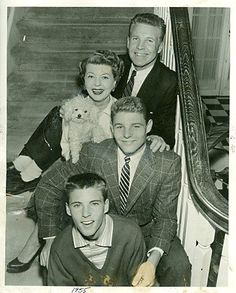 The Nelsons 1955 - they have a little doggy!