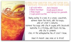 whiskey spiked peach iced tea - a fabulous gameday cocktail for your tailgate!
