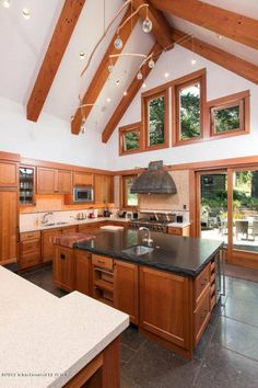 3 (41) lofty kitchen This is how the world's richest woman lives: Christy Walton's Wyoming estate is for sale