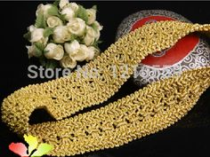 4 cm US $2.38 x 5 meters Gold Vintage Lace Trim # Fantastic Touch [http://www.aliexpress.com/store/product/Hot-Sale-5-Meters-Gold-Curtain-Vintage-Lace-Trim-Lace-Costume-Trimmings-for-DIY-Material/1344024_32229578293.htm]