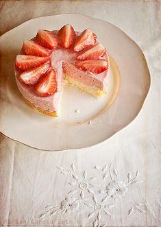 Tarta queso fresas / Strawberry cheesecake, El invitado de invierno