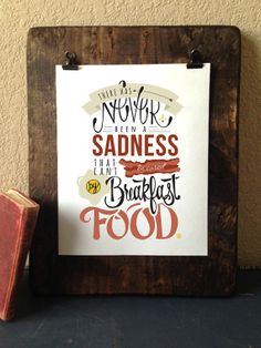 There Has Never Been A Sadness That Cant Be Cured By Breakfast Food // Ron Swanson //Parks and Recreation on Etsy, $10.00