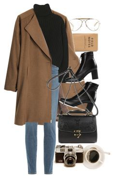 """""""Untitled #9984"""" by nikka-phillips ❤ liked on Polyvore featuring CÉLINE, G.V.G.V., Paige Denim and Yves Saint Laurent"""