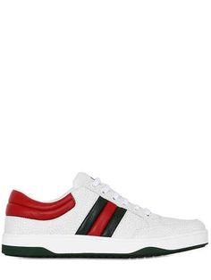 GUCCI RONNIE HAMMERED LEATHER SNEAKERS. #gucci #shoes #